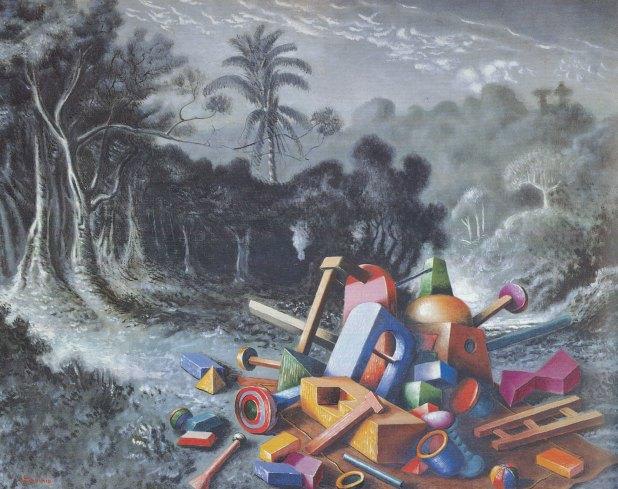 Alberto Savinio, Oggetti nella foresta, 1928